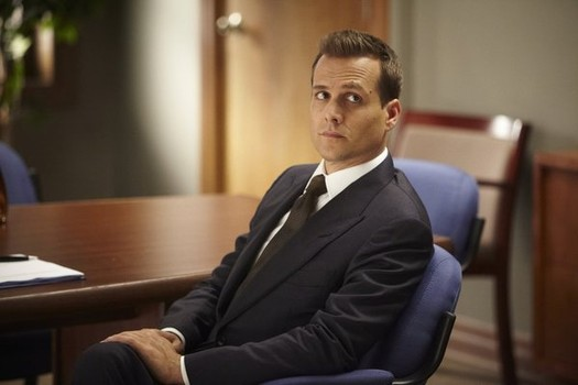 "SUITS -- ""Endgame"" Episode 308 -- Pictured: Gabriel Macht as Harvey Specter -- (Photo by: Ian Watson/USA Network)"