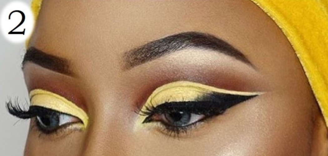 sombras de ojos para morenas amarillo amarilla yellow eyeshadow