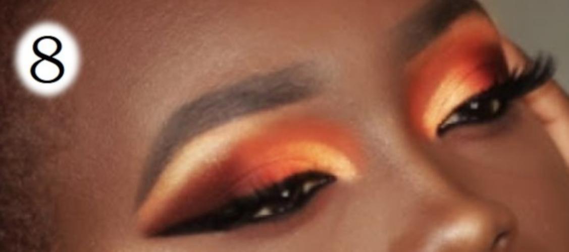 sombras de ojos para morenas naranja