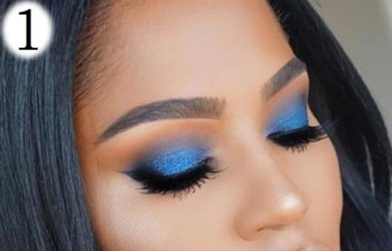 sombras de ojos para morenas azul