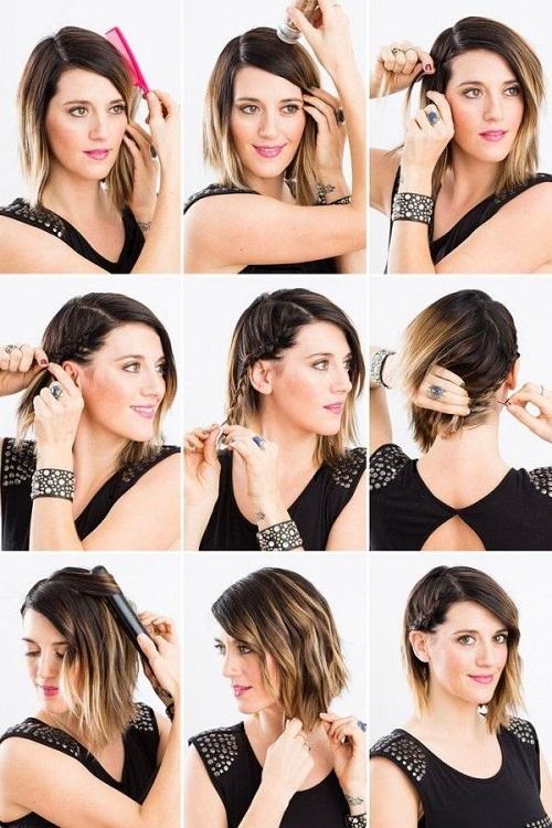 Peinados diarios faciles para cabello corto