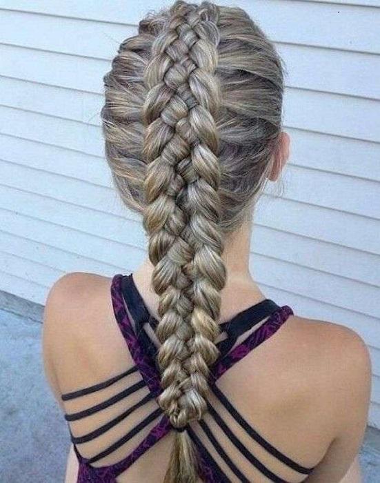 peinados fáciles y bonitos trenza de 4 cabos