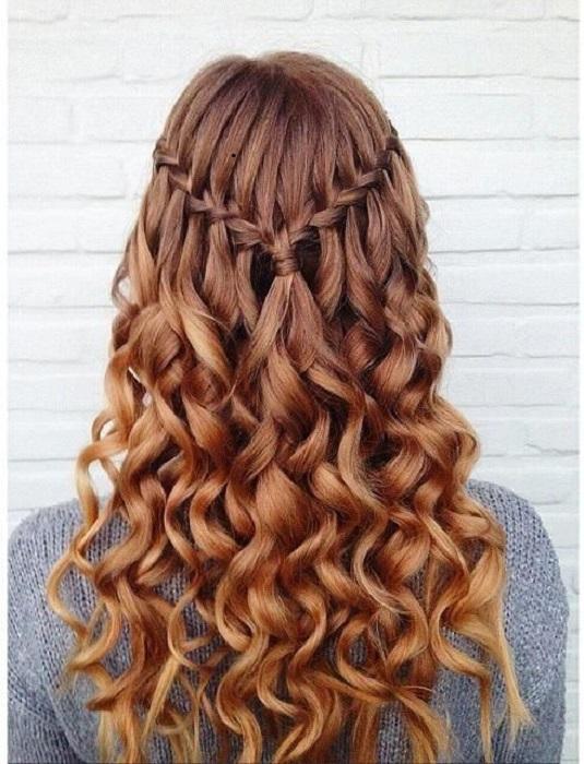 peinados fáciles y bonitos cascada en v