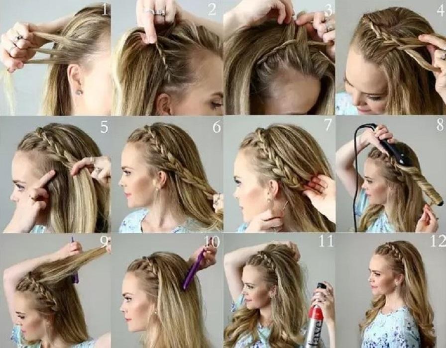 peinados faciles y bonitos cintillo de trenza
