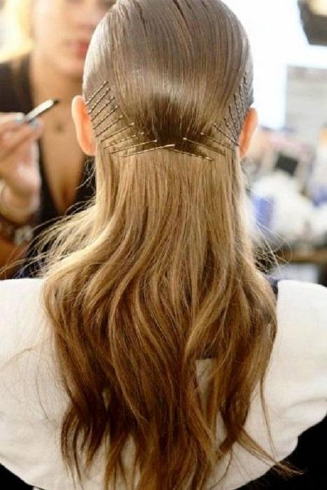 peinados fáciles y bonitos patrón con bobby pins