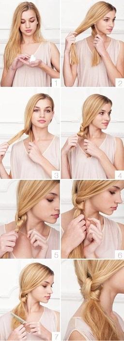peinados fáciles y bonitos coleta de nudos