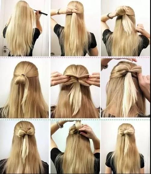 peinados faciles y bonitos lazo con cabello suelto