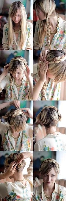 peinados fáciles y bonitos recogido tipo sirena
