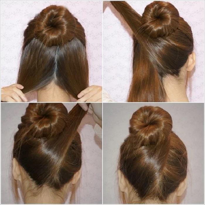 peinados fáciles y bonitos moño cruzado