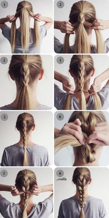 peinados fáciles y bonitos trenza doble