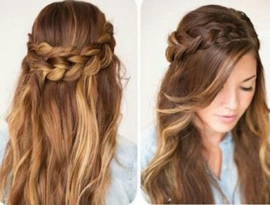 peinados fáciles y bonitos corona de cadena doble