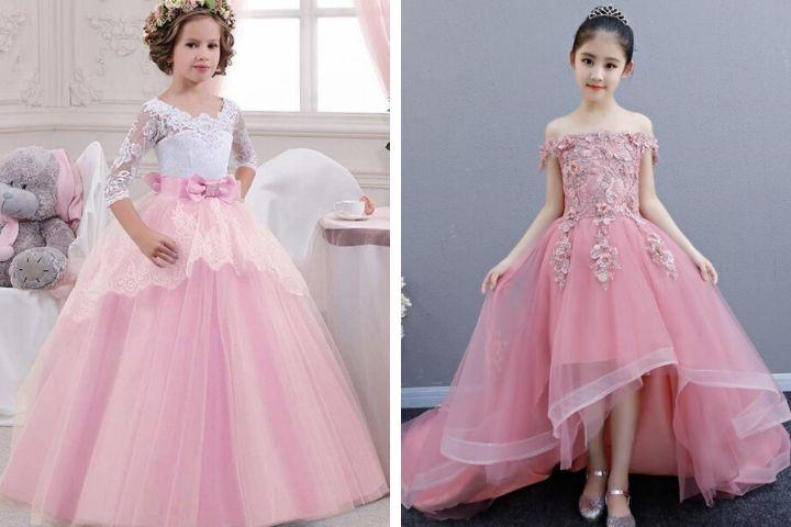 vestidos de graduacion de niña palo rosa