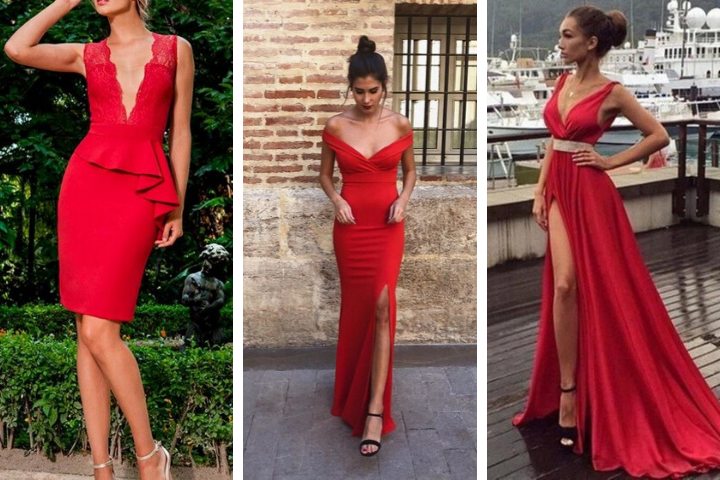 vestidos de graduacion rojos